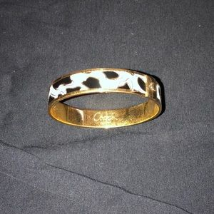 Coach leopard bangle bracelet